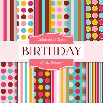 Digital Papers -  Birthday (DP253)
