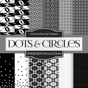 Digital Papers - Black and White Dots and Circles (DP4042)