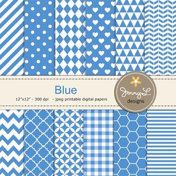 Digital Papers : Blue