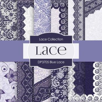 Digital Papers - Blue Lace (DP3705)