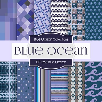 Digital Papers - Blue Ocean (DP1266)
