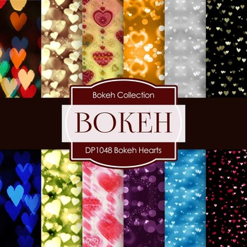 Digital Papers - Bokeh Hearts (DP1048)