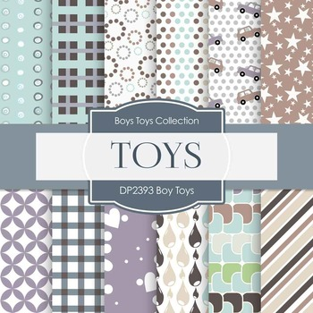 Digital Papers - Boy Toys (DP2393)