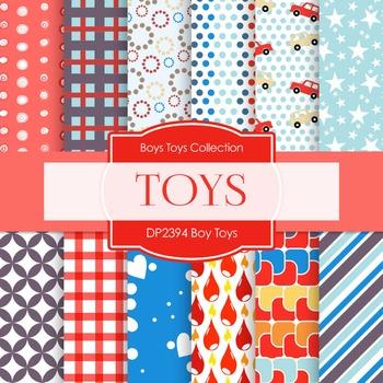 Digital Papers - Boy Toys (DP2394)