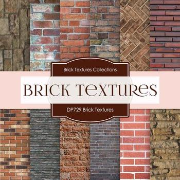 Digital Papers - Brick Textures (DP729)