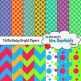 Digital Papers {Bright Happy Birthday}