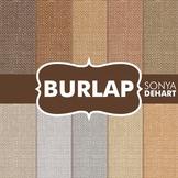 Digital Papers -  Burlap Linen Jute Fabric Textures