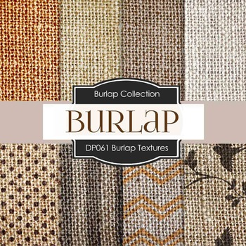 Digital Papers - Burlap Textures (DP061)
