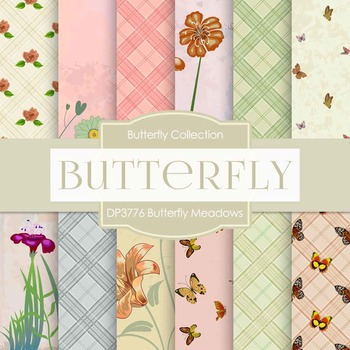 Digital Papers - Butterfly Meadows (DP3776)