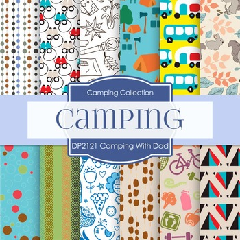Digital Papers - Camping With Dad (DP2121)