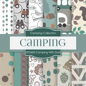 Digital Papers - Camping With Dad (DP2402)