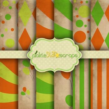 Digital Papers Carnival Paper Circus Paper 8