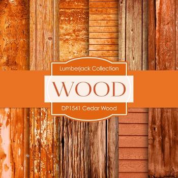 Digital Papers - Cedar Wood (DP1541)