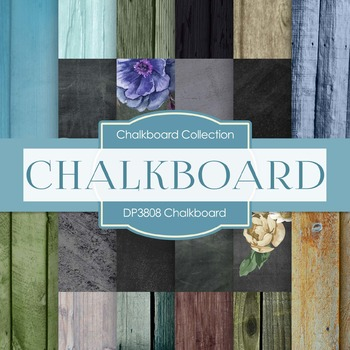 Digital Papers - Chalkboard (DP3808)