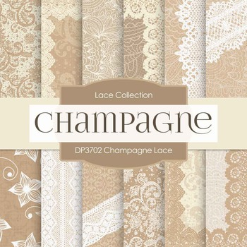 Digital Papers - Champagne Lace (DP3702)