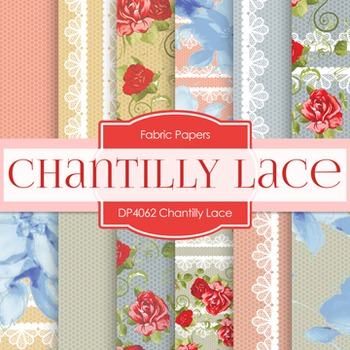 Digital Papers -  Chantily Lace (DP4062)