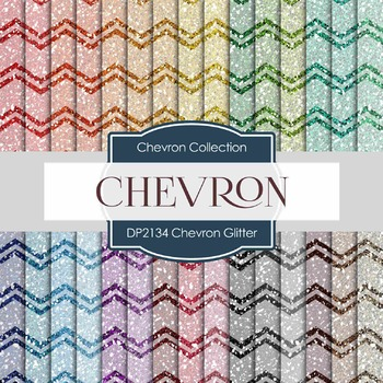 Digital Papers - Chevron Glitter (DP2134)