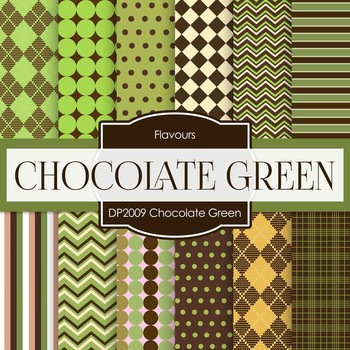 Digital Papers - Chocolate Green (DP2009)