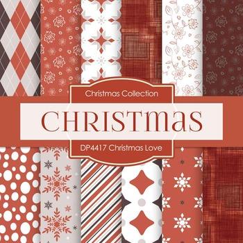 Digital Papers - Christmas Love (DP4417)