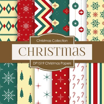 Digital Papers - Christmas Papers (DP1519)