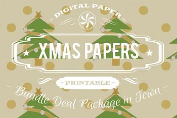 Digital Papers - Christmas Patterns Bundle Deal