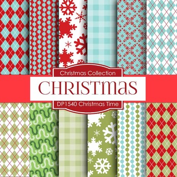 Digital Papers - Christmas Time (DP1540)