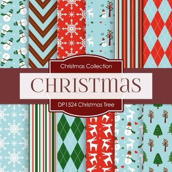 Digital Papers - Christmas Tree (DP1524)