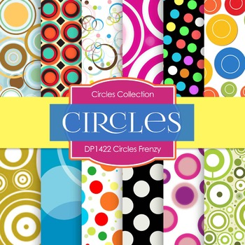 Digital Papers - Circles Frenzy (DP1422)