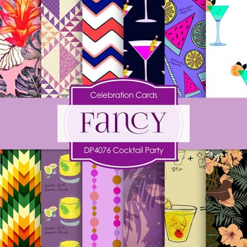 Digital Papers - Cocktail Party (DP4076)