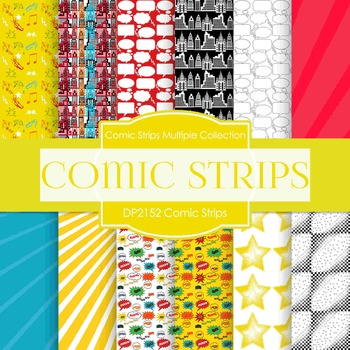 Digital Papers - Comic Strips (DP2152)