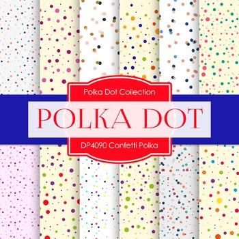 Digital Papers - Confetti Polka (DP4090)
