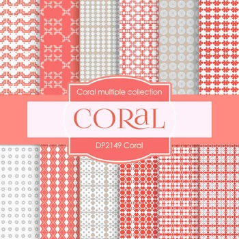 Digital Papers -  Coral (DP2149)