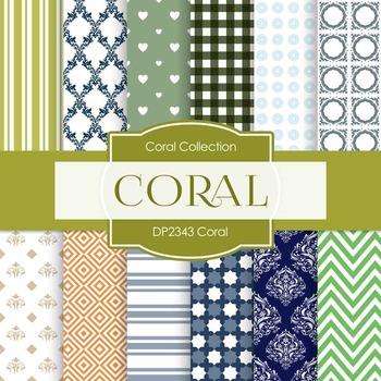 Digital Papers -  Coral (DP2343)