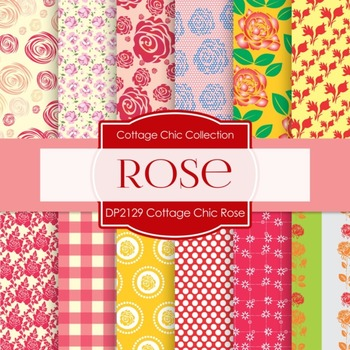 Digital Papers - Cottage Chic Rose (DP2129)