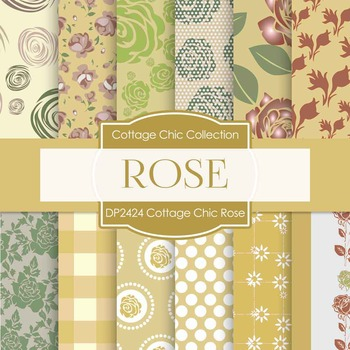 Digital Papers - Cottage Chic Rose (DP2424)