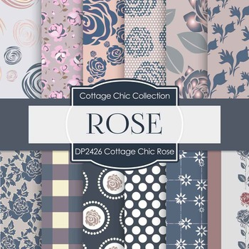 Digital Papers - Cottage Chic Rose (DP2426)