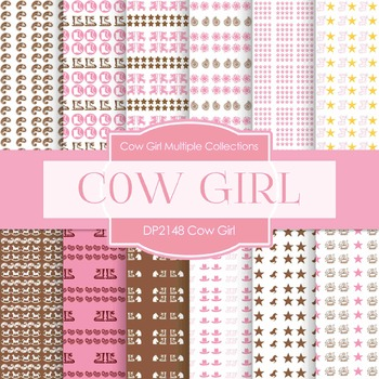 Digital Papers - Cow Girl (DP2148)