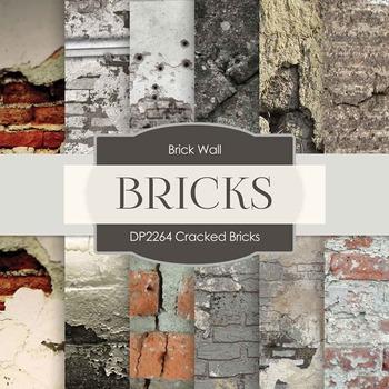 Digital Papers - Cracked Bricks (DP2264)