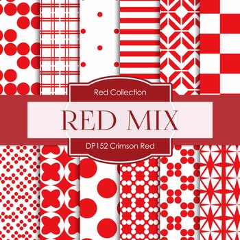 Digital Papers - Crimson Red (DP152)