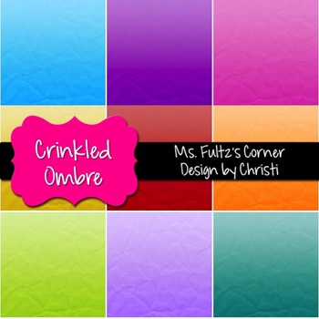 Digital Papers: Crinkled Ombre Paper