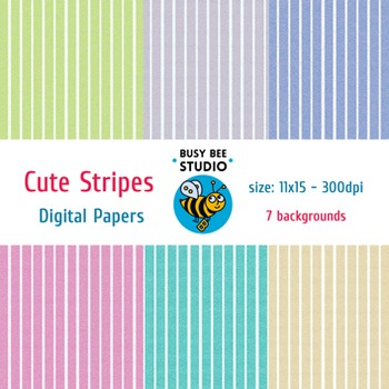 Digital Papers: Cute Stripes