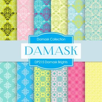 Digital Papers -  Damask Brights (DP215)