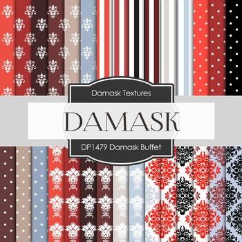 Digital Papers -  Damask Buffet (DP1479)