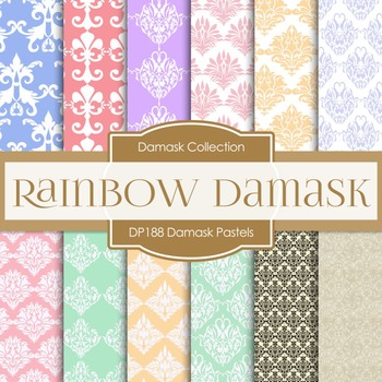 Digital Papers - Damask Pastels (DP188)