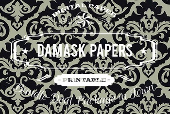 Digital Papers - Damask Patterns Bundle Deal