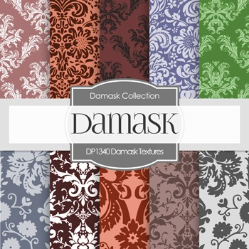 Digital Papers -  Damask Textures (DP1340)