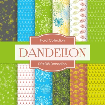 Digital Papers - Dandelion (DP4208)