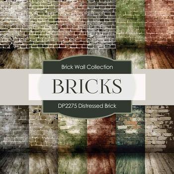 Digital Papers - Distressed Brick (DP2275)