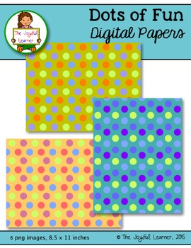 Digital Papers: Dots of Fun FREEBIE
