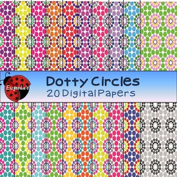 Digital Papers - Dotty Circles